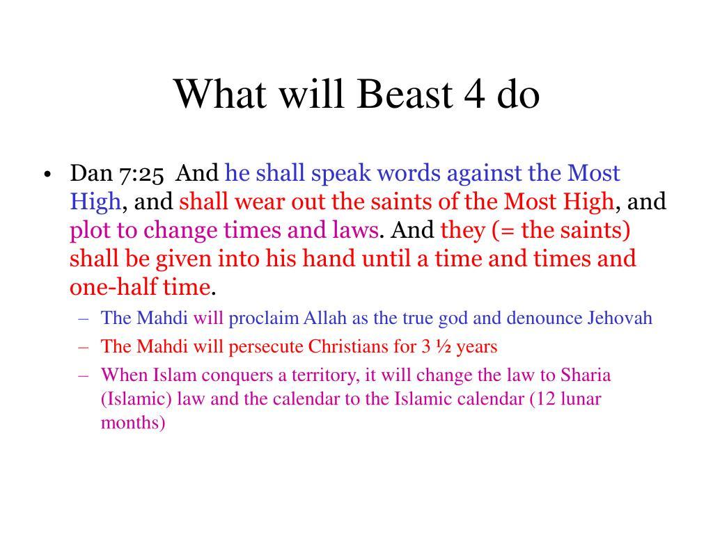 What will Beast 4 do