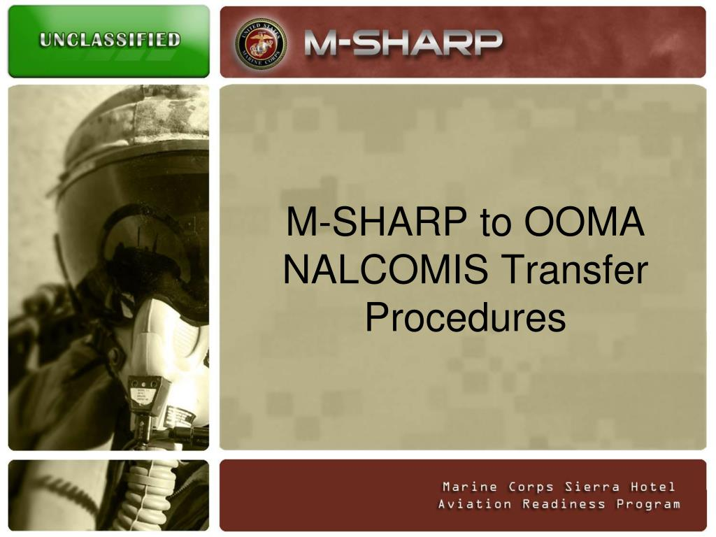 m sharp to ooma nalcomis transfer procedures l.