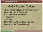 media transfer options4