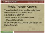 media transfer options5