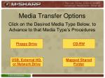 media transfer options6