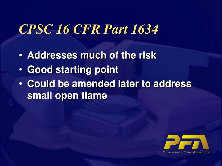 Cpsc 16 cfr part 1634