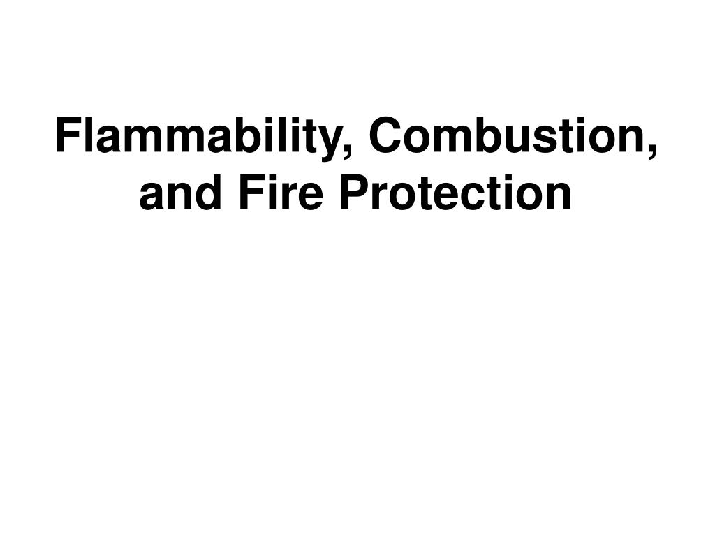 flammability combustion and fire protection l.