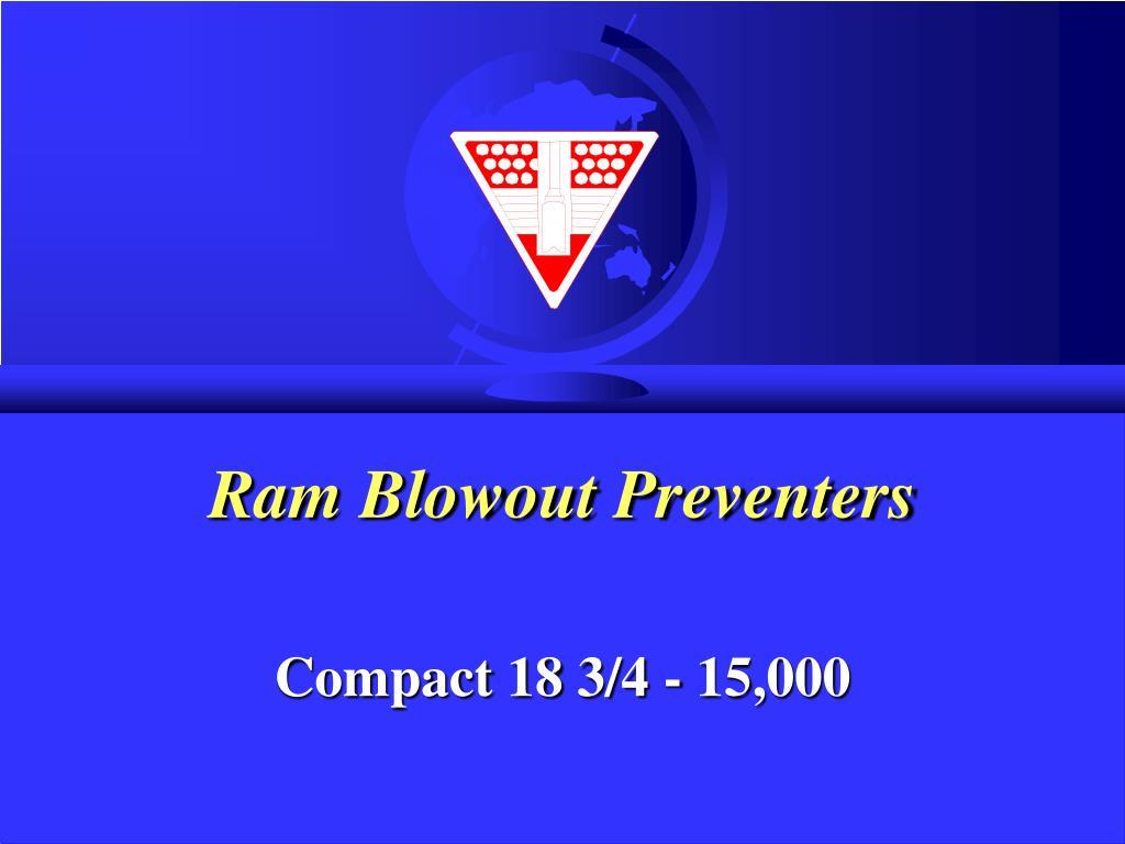 ram blowout preventers l.