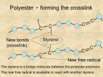 polyester forming the crosslink