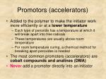 promotors accelerators
