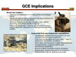 gce implications