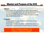 mission and purpose of the svg