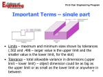 important terms single part10