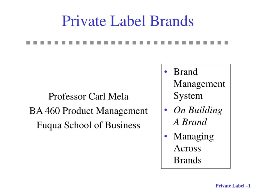 private label brands l.