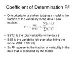 coefficient of determination r 2