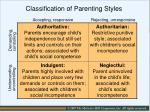 classification of parenting styles