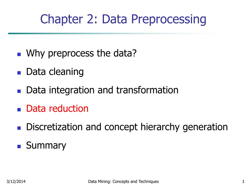 chapter 2 data preprocessing l.