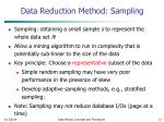 data reduction method sampling