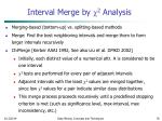 interval merge by 2 analysis