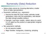 numerosity data reduction