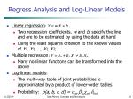 regress analysis and log linear models