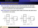 basic hole and shaft systems