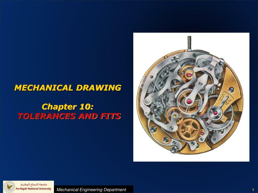 mechanical drawing chapter 10 tolerances and fits l.