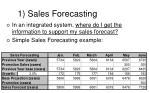 1 sales forecasting