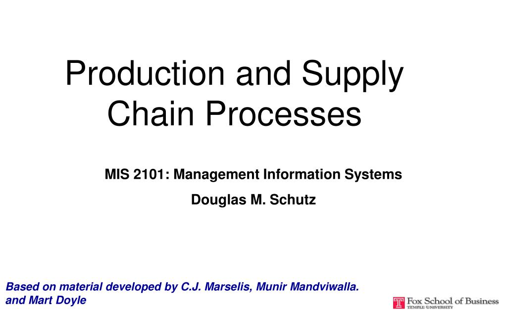 production and supply chain processes l.