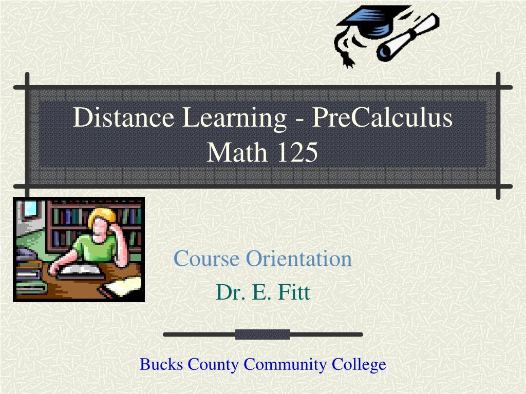 distance learning precalculus math 125 l.
