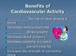 benefits of cardiovascular activity