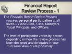 financial report review process 1