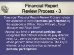financial report review process 3