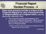 financial report review process 4