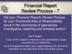 financial report review process 7