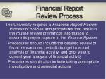financial report review process
