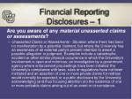 financial reporting disclosures 1