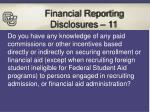 financial reporting disclosures 11