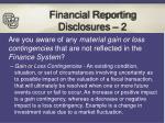 financial reporting disclosures 2