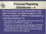 financial reporting disclosures 4