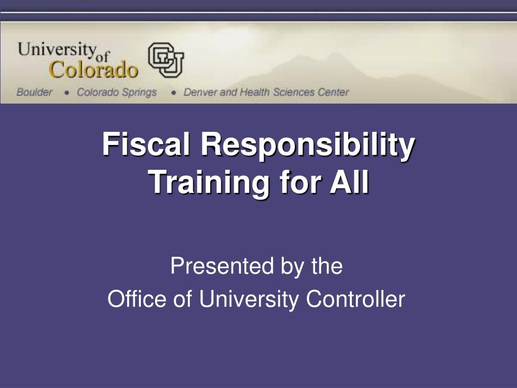 fiscal responsibility training for all l.