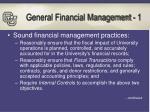 general financial management 1