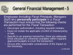 general financial management 5