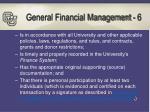 general financial management 6
