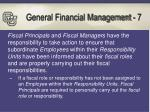general financial management 7