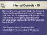 internal controls 10