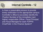 internal controls 12