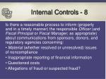 internal controls 8