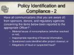 policy identification and compliance 2