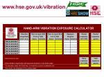 www hse gov uk vibration