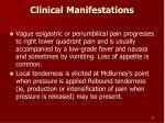 clinical manifestations57