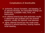 complications of diverticulitis