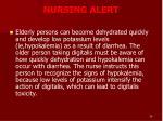 nursing alert
