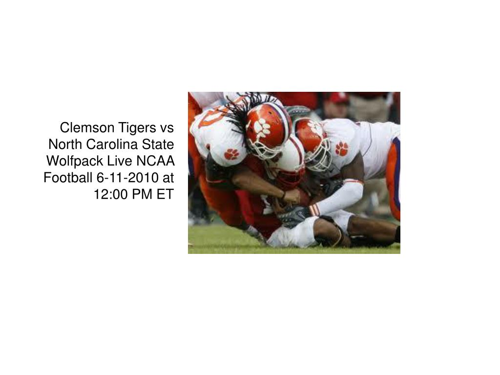 clemson tigers vs north carolina state wolfpack live ncaa football 6 11 2010 at 12 00 pm et l.